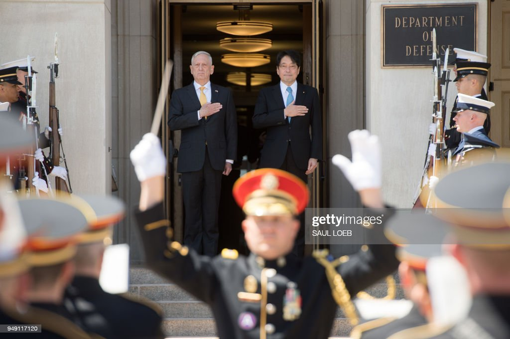Defense Secretary Mattis Hosts Japan Defense Minister Onodera At Pentagon
