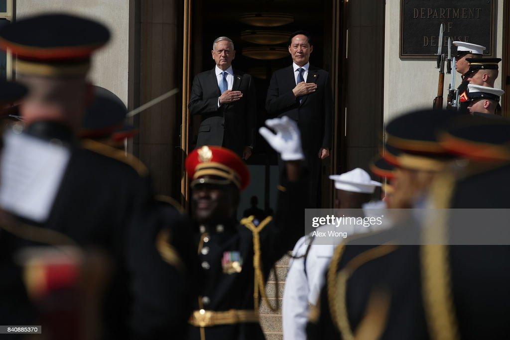Defense Secretary James Mattis Hosts Honor Cordon For South Korean Counterpart At The Pentagon
