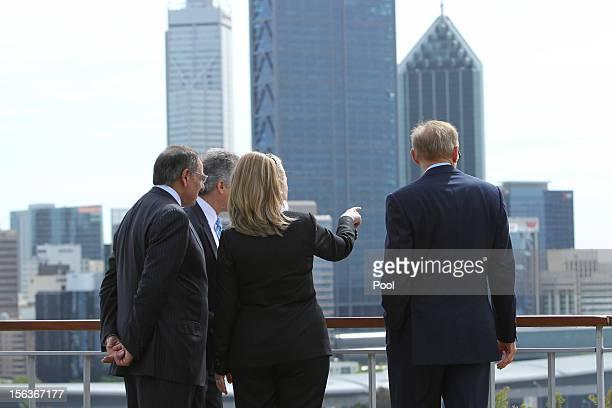 Secretary of Defense Leon Panetta Australian Minister for Defense Stephen Smith US Secretary of State Hillary Clinton and Australian Foreign Minister...
