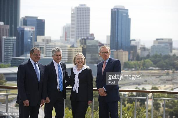 US Secretary of Defense Leon Panetta Australian Minister of Defense Stephen Smith US Secretary of State Hillary Clinton and Australian Foreign...