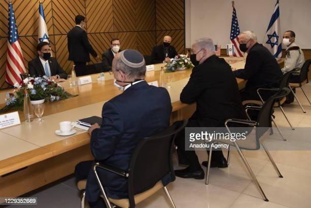 Secretary of Defense, Mark Esper meets Israeli Prime Minister, Benjamin Netanyahu in Tel Aviv, Israel on October 29, 2020. Minister of Defense of...