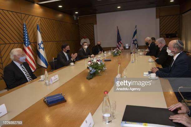Secretary of Defense, Mark Esper meets Israeli Prime Minister, Benjamin Netanyahu in Tel Aviv, Israel on October 29, 2020.