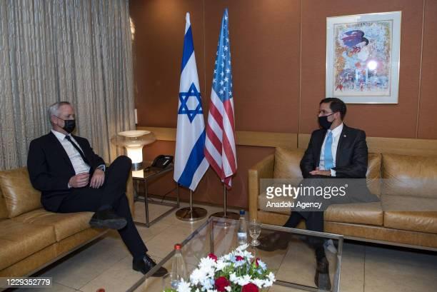 Secretary of Defense, Mark Esper meets Minister of Defense of Israel, Benny Gantz in Tel Aviv, Israel on October 29, 2020.