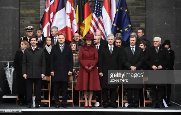 US Secretary of Defense Mark T Esper Poland President Andrzej Duda Queen Mathilde of Belgium King Philippe Filip of Belgium Grand Duke Henri of...