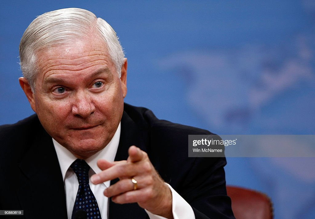 Robert Gates Holds Press Briefing At Pentagon