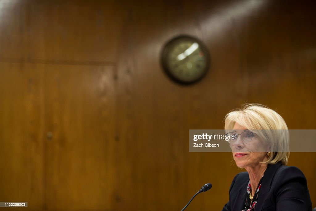 Education Secretary Betsy DeVos Testifies To Senate Committee On Department's Budget : News Photo