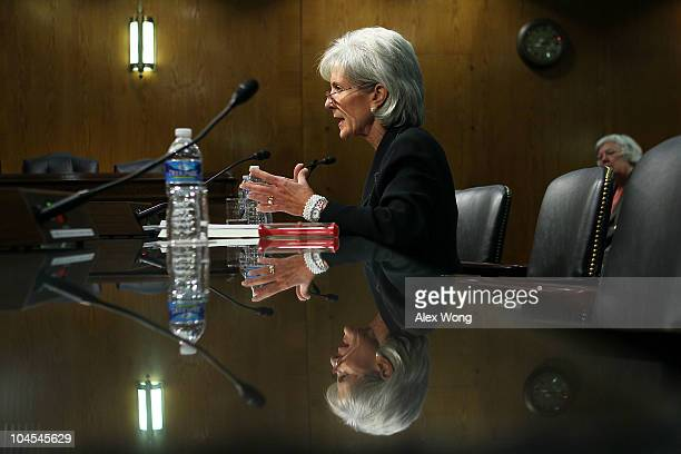 S Secretary of Health and Human Services Kathleen Sebelius testifies during a hearing before the Labor HHs Education and Related Agencies...