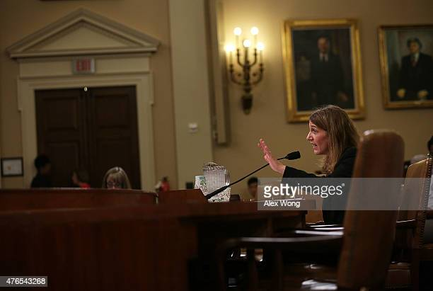 S Secretary of Health and Human Services Sylvia Burwell testifies during a hearing before the House Ways and Means Committee June 10 2015 on Capitol...