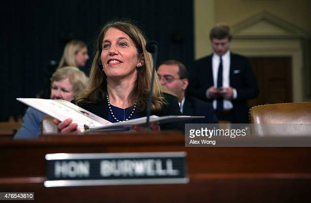 S Secretary of Health and Human Services Sylvia Burwell waits for the beginning of a hearing before the House Ways and Means Committee June 10 2015...