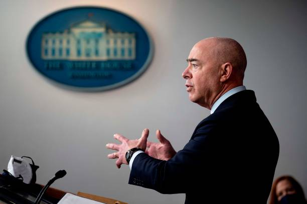 DC: Press Secretary Jen Psaki And Homeland Security Secretary Alejandro Mayorkas Hold Briefing At White House