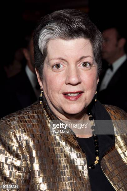 S Secretary of Homeland Security Janet Napolitano arrives at The National Italian American Foundation's 34th Anniversary Awards Gala at the Hilton...