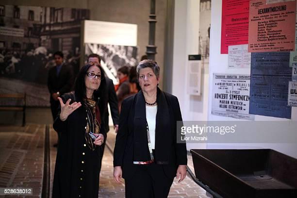 US Secretary of Homeland Security Janet Napolitano visits to the Yad Vashem Holocaust Memorial museum on January 03 2011 in Jerusalem Israel