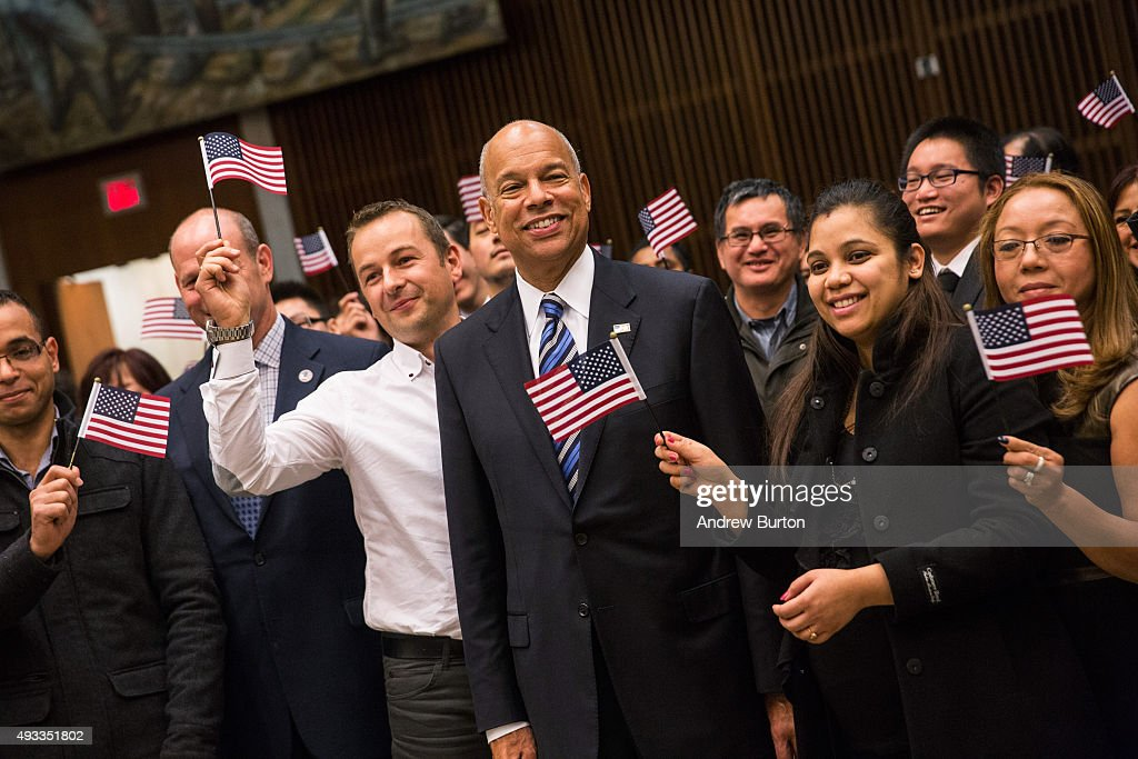 Jeh Johnson Delivers Remarks At Naturalization Ceremony In NYC
