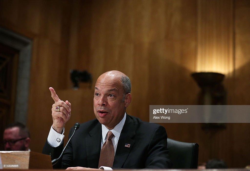 Homeland Security Secretary Jeh Johnson Testifies To Senate Hearing On Department's Budget
