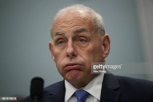 S Secretary of Homeland Security John Kelly testifies during a hearing before the Homeland Security Subcommittee of the House Appropriations...