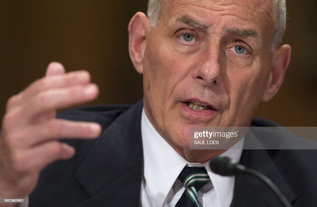 Senate Homeland Security John Kelly Testifies To Senate Committee On DHS's Budget