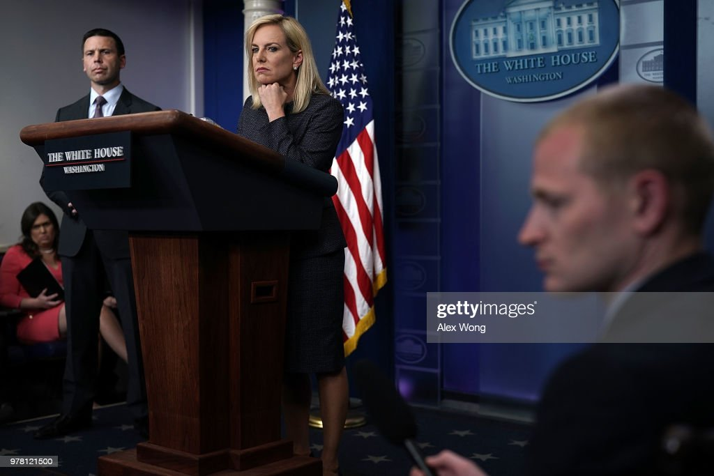 Department Of Homeland Security Secretary Kirstjen Nielsen Speaks At The Daily Press Briefing At The White House