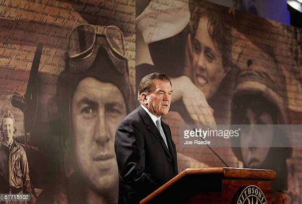 S Secretary of Homeland Security Tom Ridge speaks during the opening ceremony for The Price of Freedom Americans at War exhibit at the National...