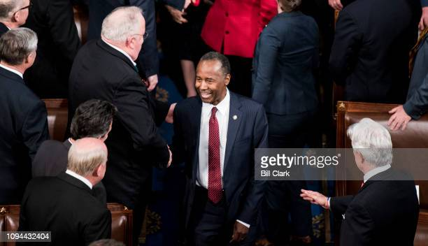 Secretary of Housing and Urban Development Ben Carson arrives for President Donald Trump's State of the Union Address to a joint session of Congress...