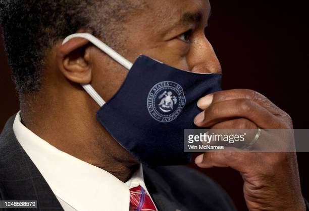 Secretary of Housing and Urban Development Ben Carson arrives for testimony before the Senate Banking, Housing and Urban Affairs Committee June 9,...