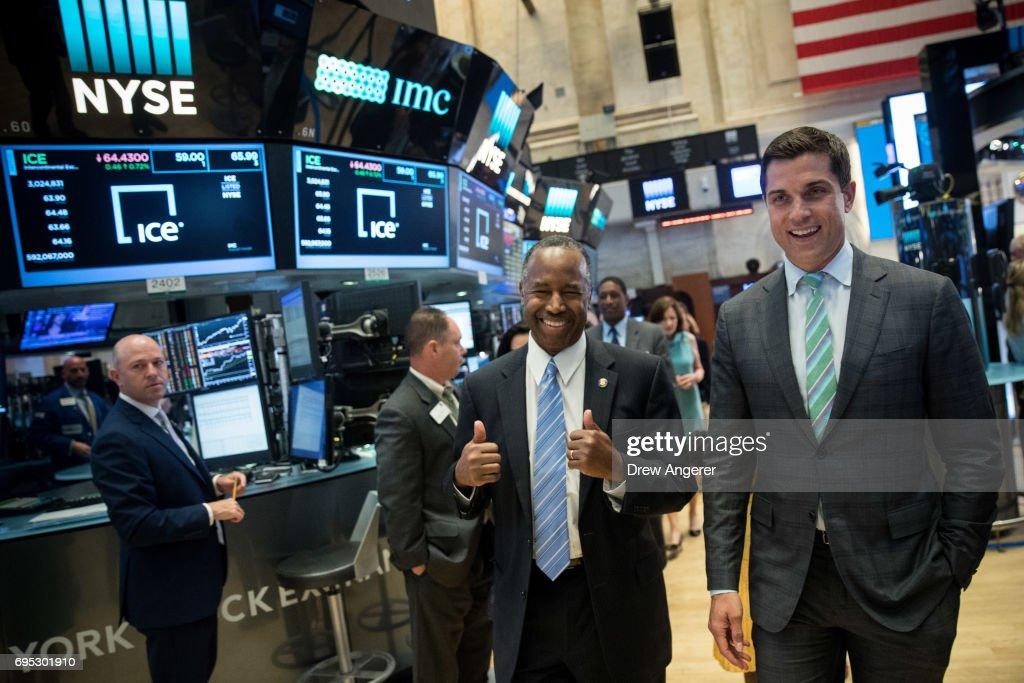 HUD Secretary Ben Carson Rings Closing Bell At New York  Stock Exchange