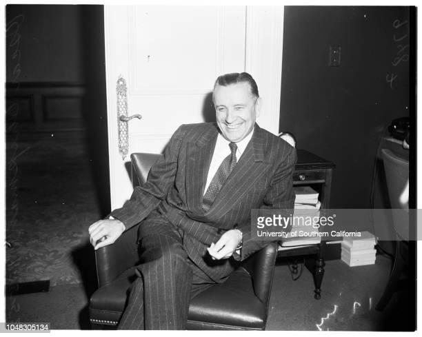 Secretary of Interior interview 15 November 1952 Oscar ChapmanLos Angeles California