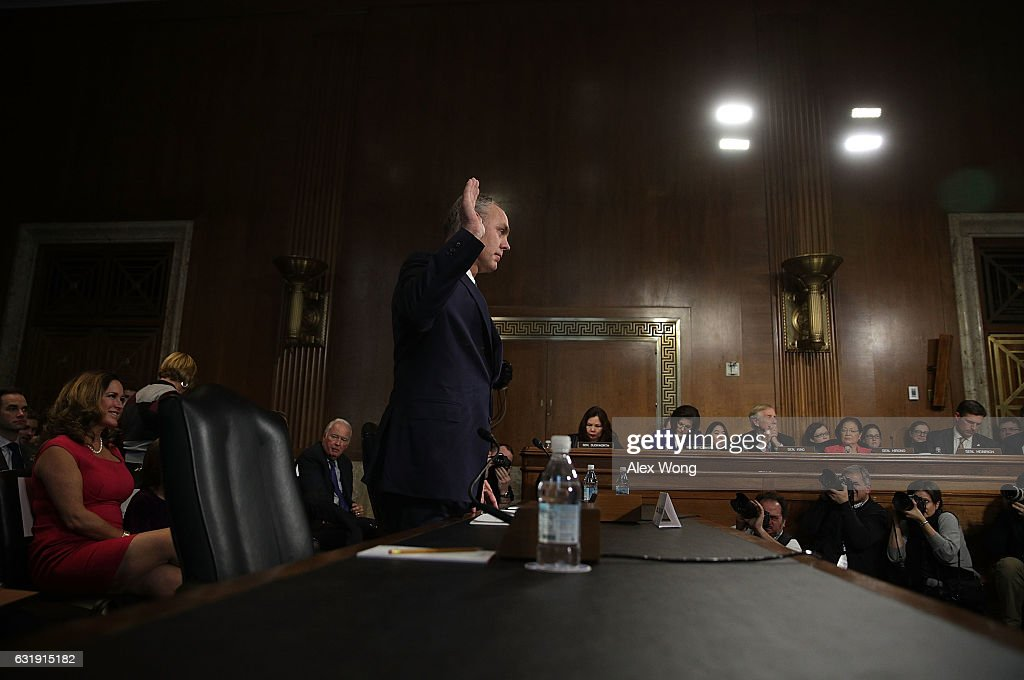 Confirmation Hearing Held For Ryan Zinke To Become Interior Secretary Under Trump : News Photo
