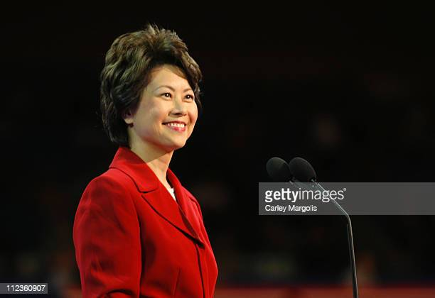 Secretary of Labor Elaine L Chao during 2004 Republican National Convention Day 3 Inside at Madison Square Garden in New York City New York United...