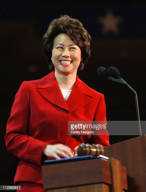 Secretary of Labor Elaine L. Chao during 2004 Republican National Convention - Day 3 - Inside at Madison Square Garden in New York City, New York,...