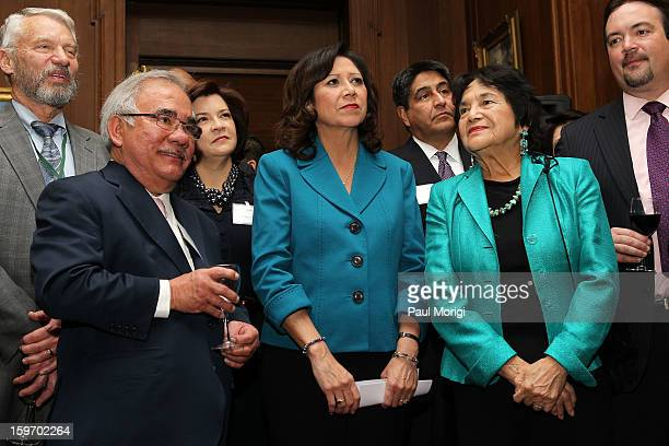 Secretary of Labor Hilda Solis attends a reception to recognize The National Park Service and The American Latino Initiative at the Secretary of the...
