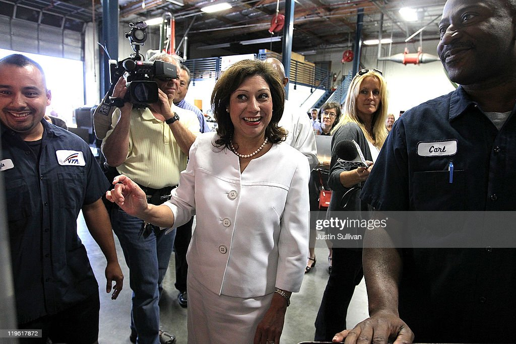 Secretary Of Labor Solis Visits Green Job Training Program
