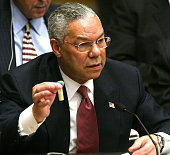 Secretary of state colin powell holds a vial representing the small picture id1762373?s=170x170