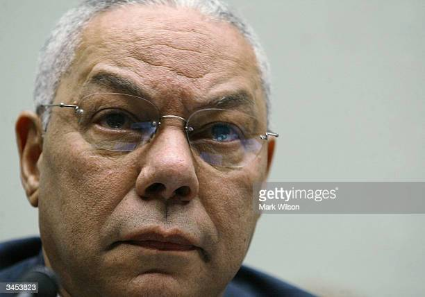 Secretary of State Colin Powell testifies before a the House Judiciary Committee on Capitol Hill, April 21, 2004 in Washington DC. The hearing...