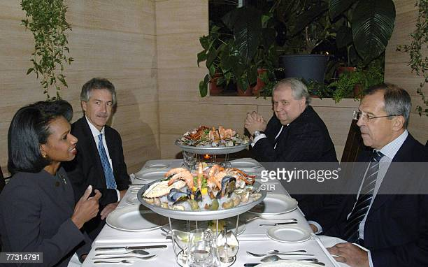 US Secretary of State Condoleezza Rice and Russian Foreign Minister Sergey Lavrov US Ambassador to Russia William Burns and Deputy Foreign Minister...