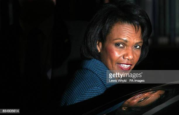 US Secretary of State Condoleezza Rice leaves 10 Downing Street after a meeting with Prime Minister Gordon Brown in central London