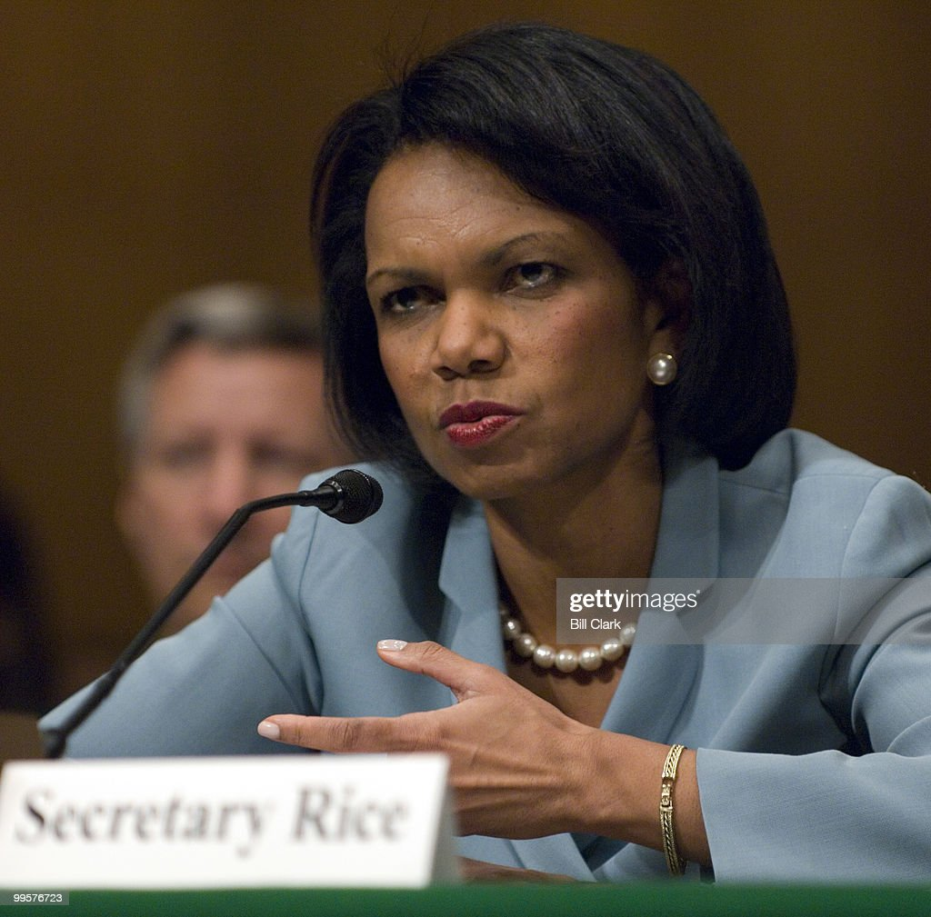 Secretary of State Condoleezza Rice testifies during the Senate Appropriations State, Foreign Operations, and Related Programs Subcommittee hearing on the FY2008 foreign operations budget on Thursday, May 10, 2007.