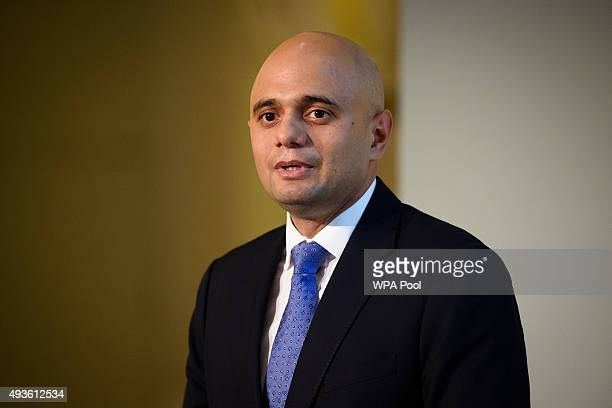 Secretary of State for Business Innovation and Skills Sajid Javid addresses guests and delegates at the UKChina Business Summit in Mansion House on...