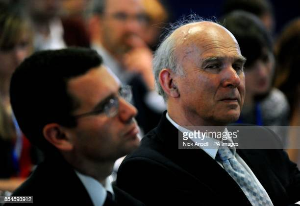 Secretary of state for business innovation and skills Vince Cable during a speech by the Deputy Prime Minister and leader of the Liberal Democrats...