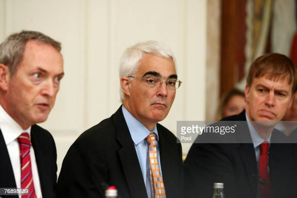 Secretary of State for Business John Hutton British Chancellor of the Exchequer Alistair Darling and Minister of State for Competitiveness Stephen...