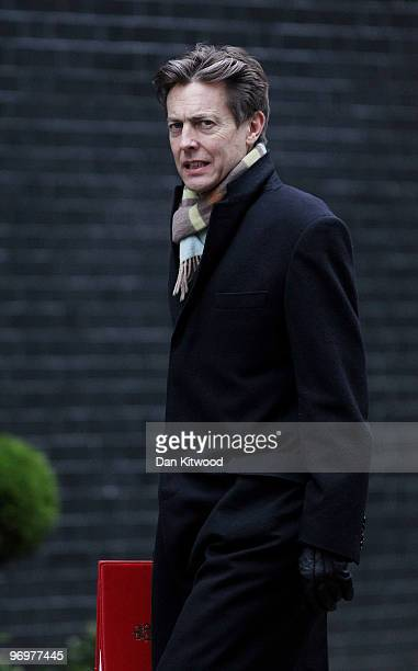 Secretary of State for Culture Media and Sport Ben Bradshaw arrives for the weekly cabinet meeting at Downing Street on February 23 2010 in London...