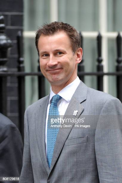 Secretary of State for Culture, Olympics, Media and Sport Jeremy Hunt arrives for the Cabinet meeting at Downing Street, London.