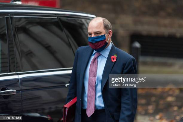 Secretary of State for Defence Ben Wallace arrives in Downing Street in central London to attend Cabinet meeting at the Foreign Office on 20 October...