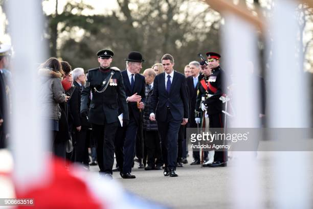 Secretary of State for Defence Gavin Williamson arrives before British Prime Minister Theresa May and French President Emmanuel Macron arrive for...
