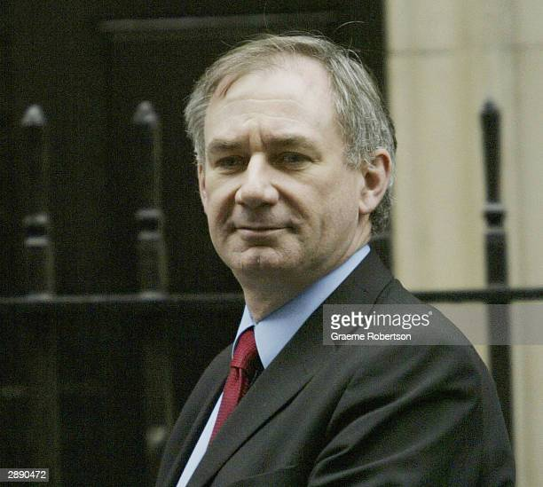 Secretary of State for Defence Geoff Hoon leaves after the weekly cabinet meeting January 22 2004 at Downing Street in London England Prime Minister...