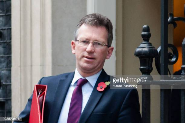 Secretary of State for Digital Culture Media and Sport Jeremy Wright leaves after a Cabinet meeting at 10 Downing Street in central London Later...