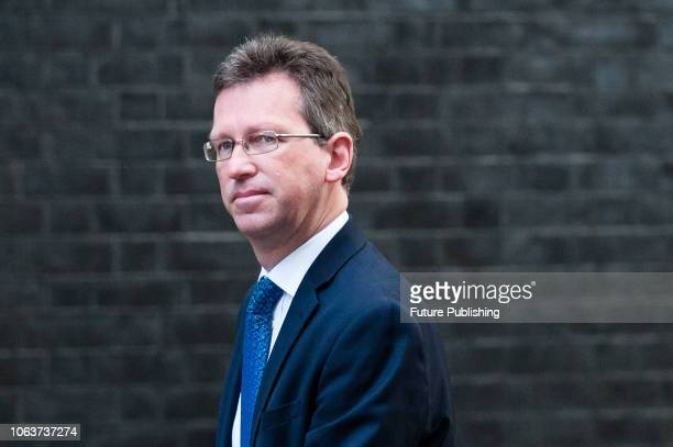 Secretary of State for Digital Culture Media and Sport Jeremy Wright arrives for a Cabinet meeting at 10 Downing Street in central London held to...