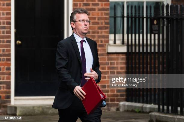 Secretary of State for Digital Culture Media and Sport Jeremy Wright arrives for the weekly Cabinet meeting at 10 Downing Street on 25 June 2019 in...