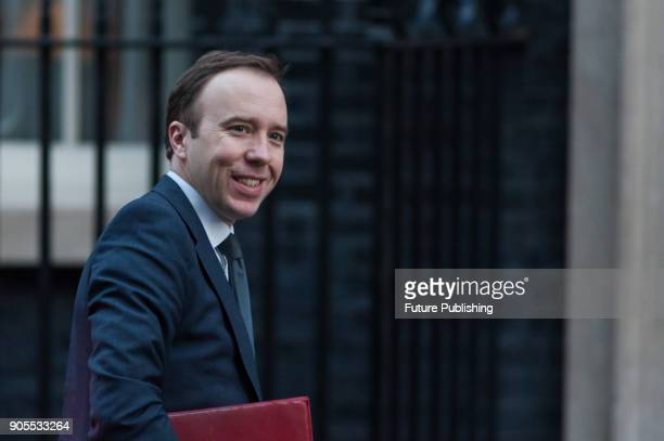 Secretary of State for Digital Culture Media and Sport Matt Hancock arrives for a weekly cabinet meeting at 10 Downing Street in central London...