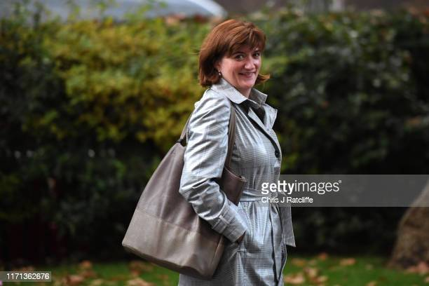 Secretary of State for Digital Culture Media and Sport Nicky Morgan departs Downing Street on September 26 2019 in London England The Prime Minster...