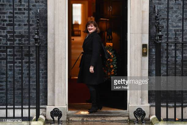 Secretary of State for Digital, Culture, Media and Sport Nicky Morgan arrives at 10 Downing Street on December 17, 2019 in London, England. British...
